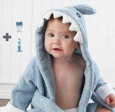 Baby badjas - badjas blauwe haai, badjas voor baby - 3-12 maanden