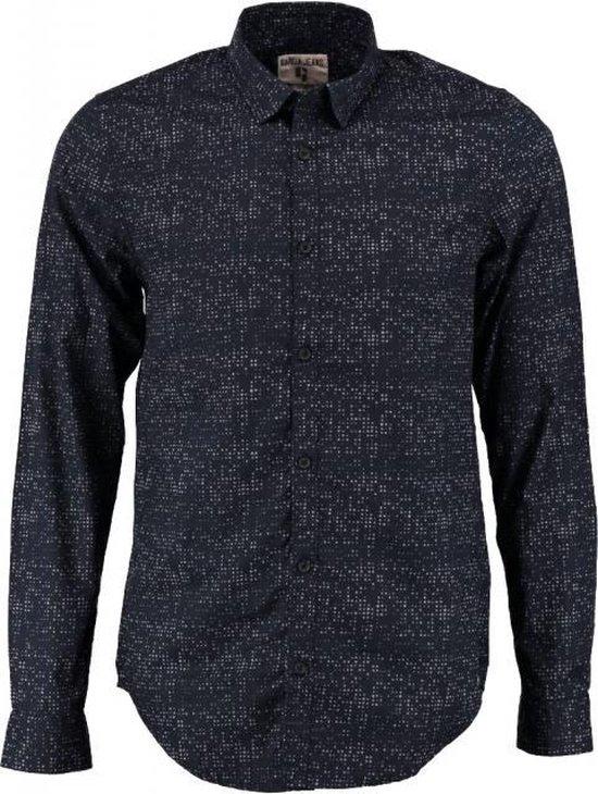 Garcia donkerblauw slim fit overhemd valt kleiner Maat - M