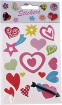 Slammer Stickers Liefde 17 Stuks