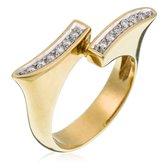Orphelia RD-33069/54 - Ring - geelgoudkleurige 18 Karaat - Diamant 0.12 ct