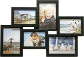 Fotolijst - Henzo - Holiday gallery - Collagelijst voor 6 foto's - Fotomaat 10x15 - Zwart