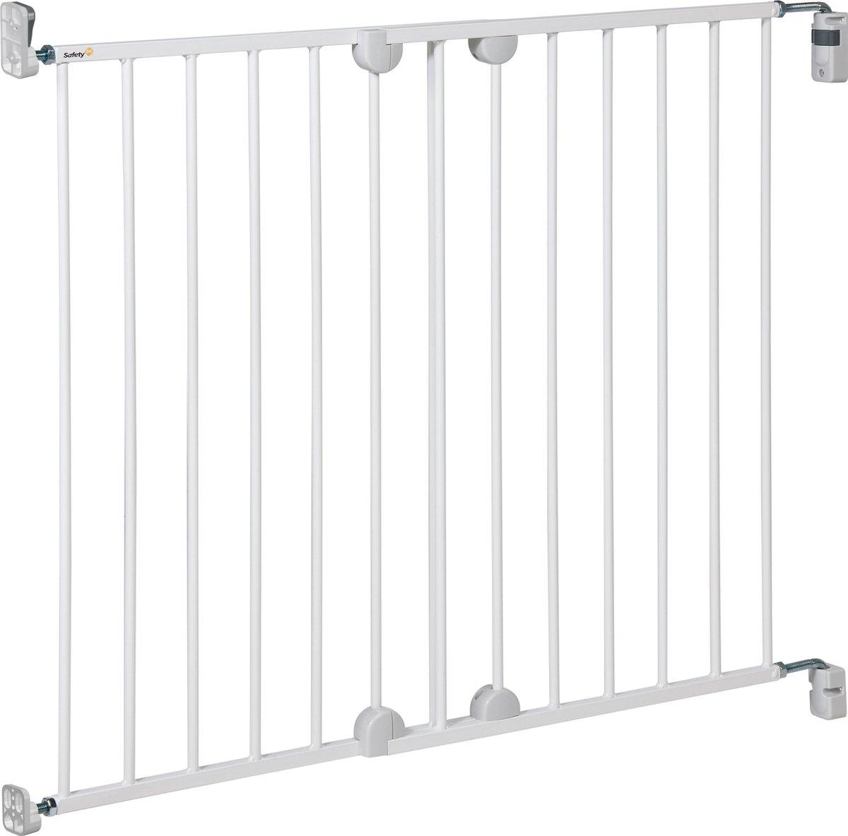 Safety 1st Wall Fix Extending Metal Gate Traphekje - 62-102 cm  - Wit