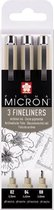 SAKURA Pigma Micron | Fineliners zwart (3 stuks)