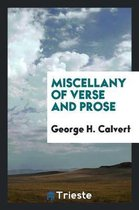 Miscellany of Verse and Prose