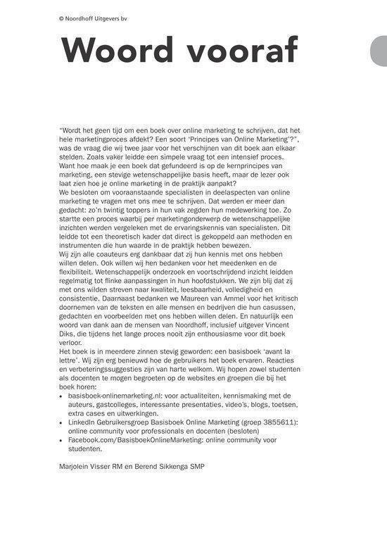 Basisboek Online Marketing - Marjolein Visser |