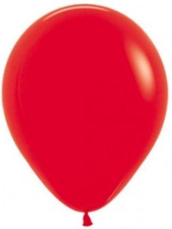 100 ballonnen rood 30 cm
