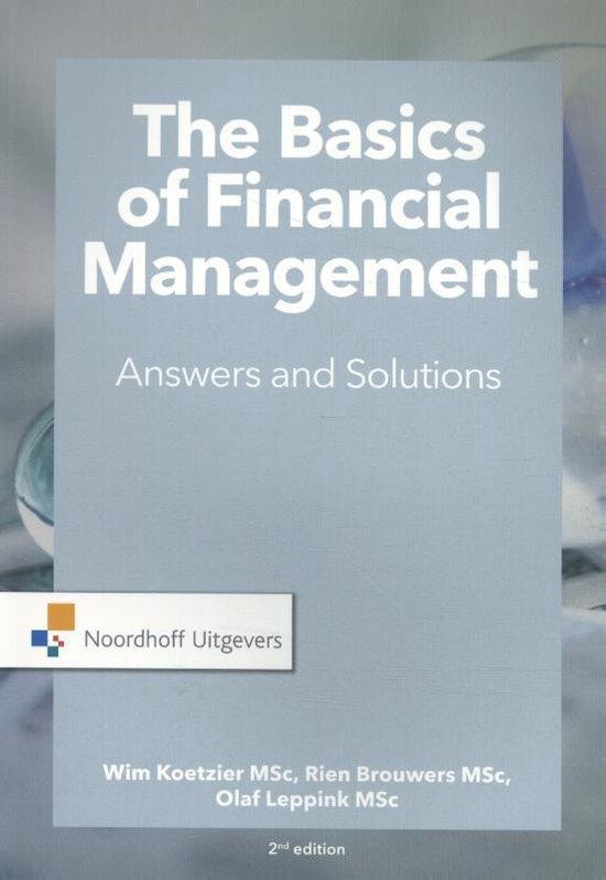 Boek cover The Basics of financial management van W. Koetzier (Paperback)