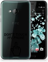 HTC U Play TPU-siliconen Hoesje Finger DTMP
