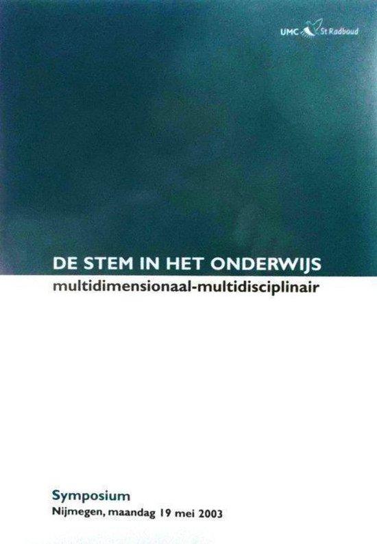 De stem in het onderwijs - F.I.C.R.S. de Jong   Fthsonline.com