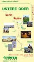 Höfer DE026. Untere Oder / Berlin - Stettin - Uckermark 1 : 200 000. Straßenkarte