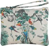 Lauren Sterk Amsterdam - canvas etui met rits - make-up tasje - pennenhouder - small - Jungle - Dieren - multicolor