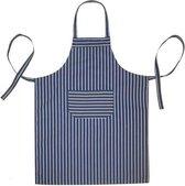 Keukenschorten BBQ BIB Apron - Blauw gestreept - 70x100 cm