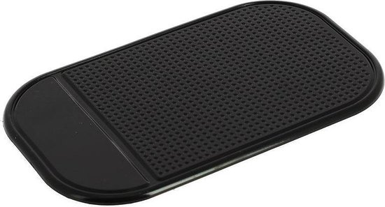 Car Plus Antislip Dashboardmatje 14,5 X 8,5 Cm Synthetisch Zwart