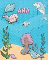 Handwriting Practice 120 Page Mermaid Pals Book Ana