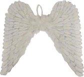 Witte engelen vleugels met glitters