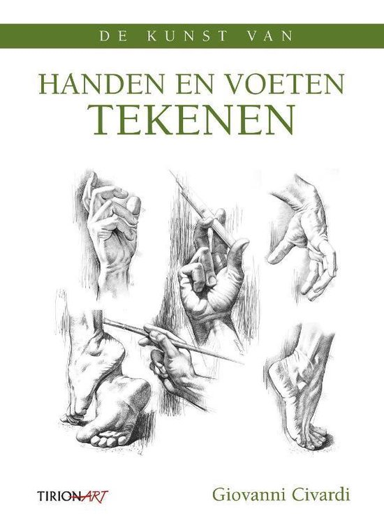 Cover van het boek 'De kunst van handen en voeten tekenen'