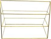 Sieradenhouder Vitrine - Display voor Sieraden - Glas en Metaal - 30x21x12 cm - Dielay