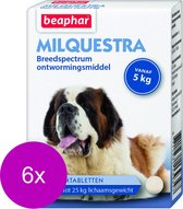 Beaphar Milquestra Hond - Anti wormenmiddel - 6 x 4 tab 5 Tot 75 Kg
