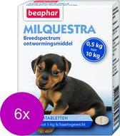 Beaphar Milquestra Pup - Anti wormenmiddel - 6 x 2 tab 0.5 Tot 10 Kg