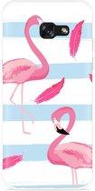 Galaxy A5 (2017) Hoesje Flamingo Feathers