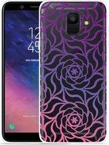 Galaxy A6 2018 hoesje Roses