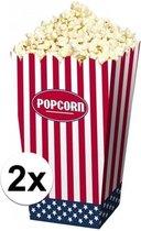 8x Popcorn bakjes USA