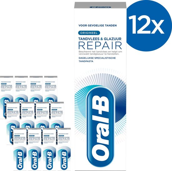 12x Oral-B Tandvlees & Glazuur Repair Original Tandpasta 75 ml