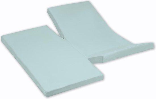 Damai - Hoeslaken dubbele split (tot 35 cm) - Katoen - 180 x 200 cm - Aqua