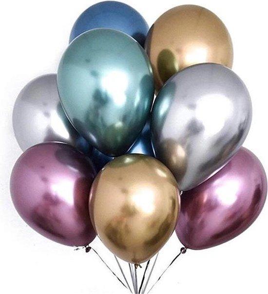 10 Chrome ballonnen|Ideaal voor feesten en andere gelegenheden