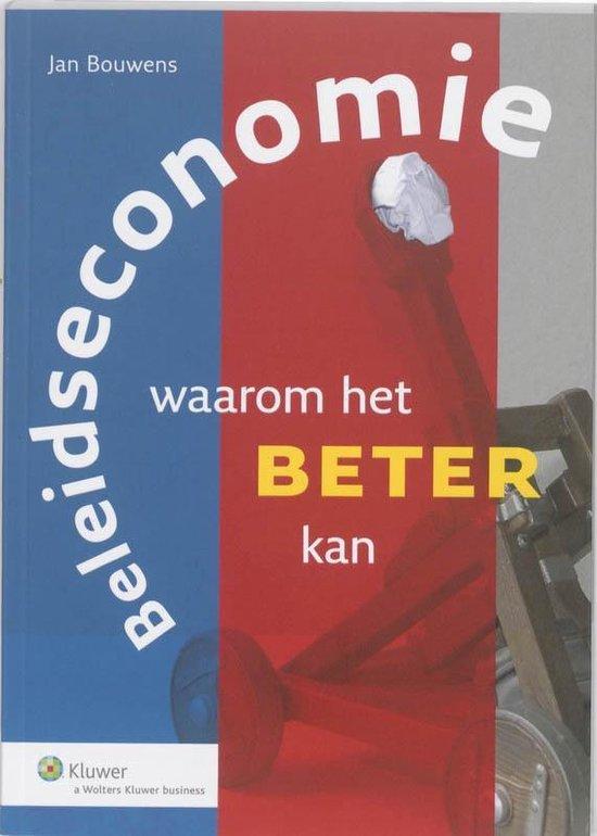 Beleidseconomie - Jan Bouwens |
