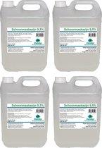 Schoonmaakazijn 9,5% / 4x5 liter