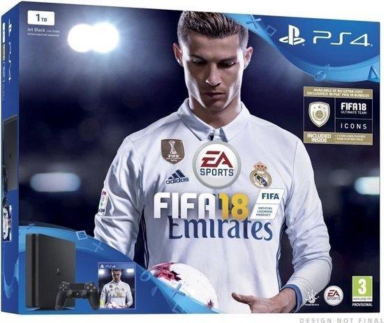 Sony PlayStation 4 Slim FIFA 18 Console + 2 Controllers - 1TB