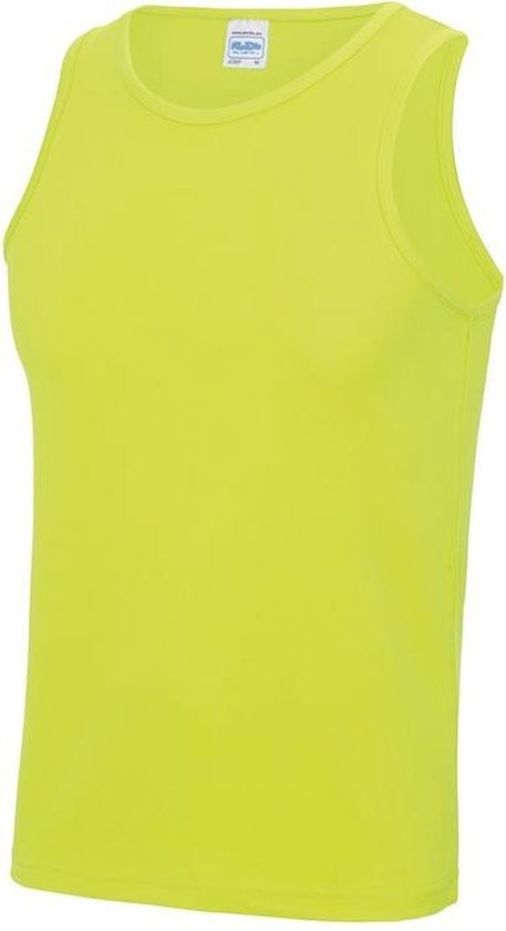 Sport singlet neon geel voor heren maat S