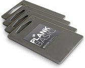 Inno Cuisinno Snijplank BASIC - set a 4 stuks - 25x15cm - zilver