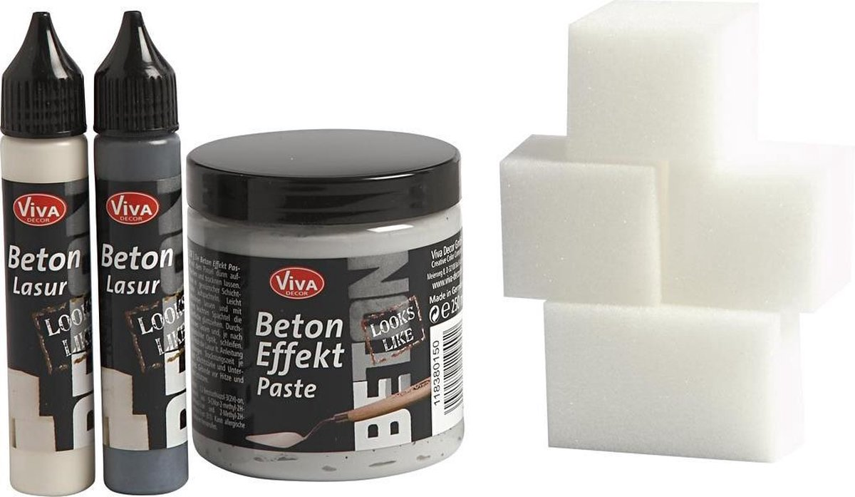 Beton pasta, 1 set, grijs - Effect Verf