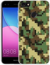 Huawei Y6 Pro 2017 Hoesje Pixel Camouflage Green