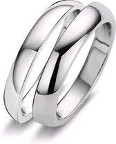 Silventi 983200114 56 Stalen Ring - 2=1 - Zilverkleurig