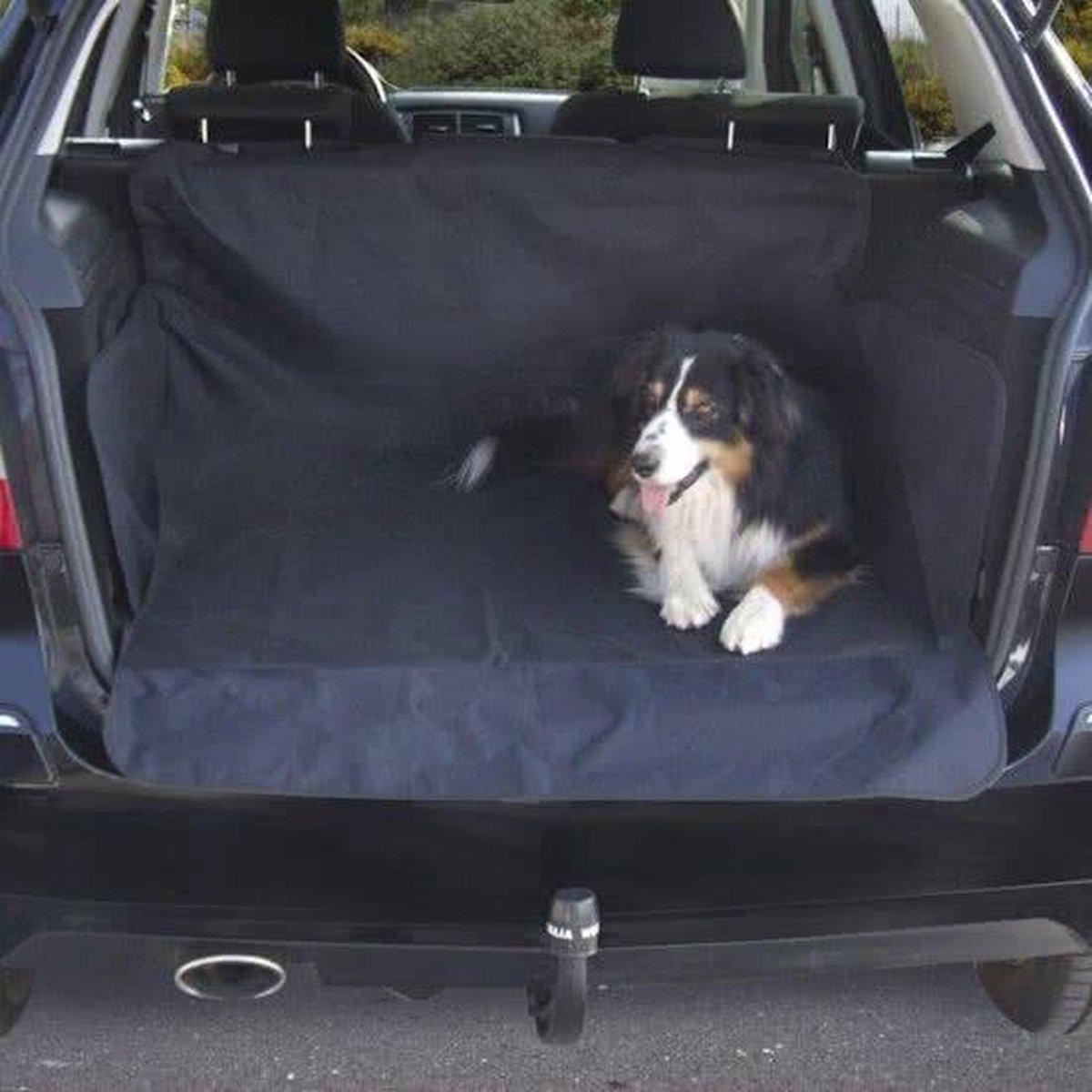 Beasty Auto Beschermhoes voor Kofferbak met Kliksluitingen - 146 x 146 cm - Zwart   Voor Honden   Tegen Vuil en Beschadigingen  Achterbank Hoes   Hondenkleed  Autodeken    Autobeschermhoes - Trend Accessoires