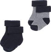 Noppies Jongen Socks 2pck Guzz - Navy - Maat 0-3 mnd
