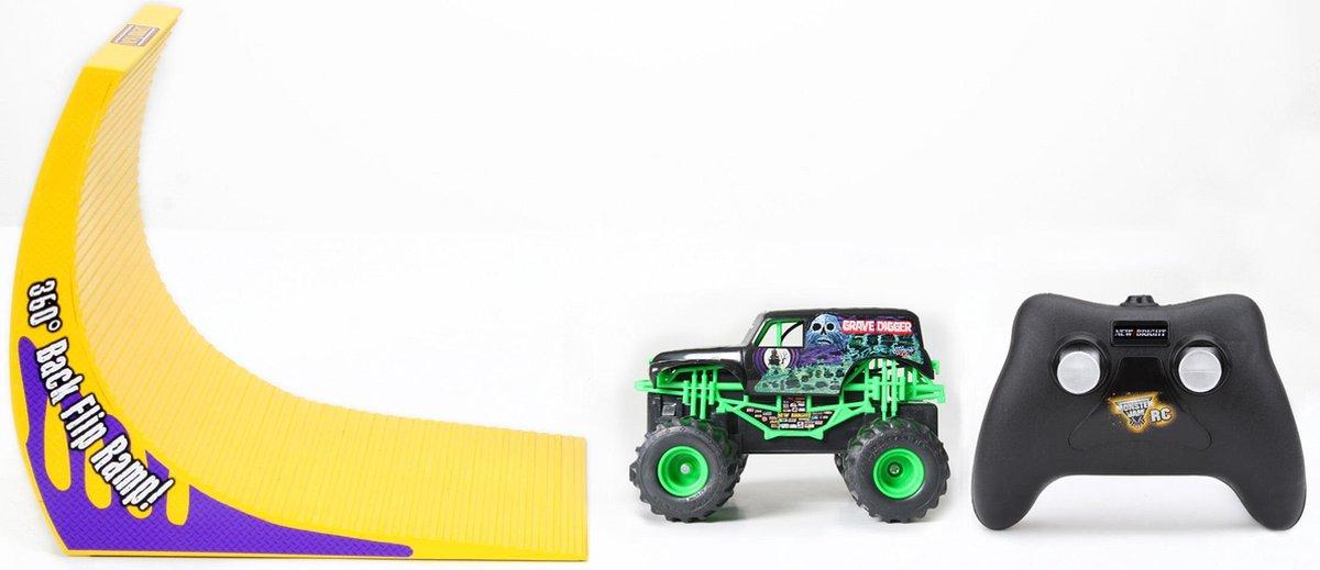 Rc New bright 360 flip set monster jam GRAVE DIGGER 360° FLIP SET - New Bright