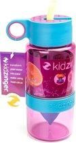 Kid Zinger kinder drinkfles 470ml Juicer - Roze met blauw