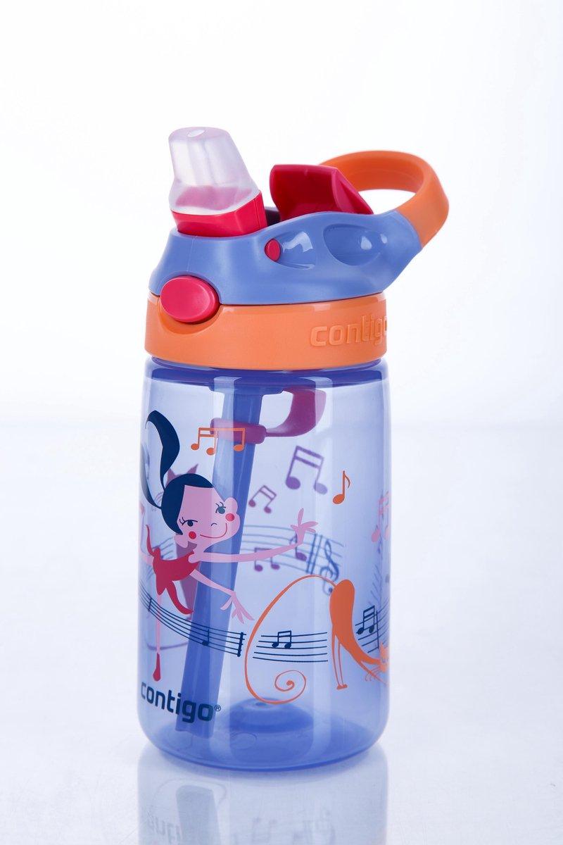 Contigo Gizmo flip drinkfles kids - Blue music dancing print - 420ml - Contigo