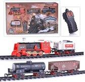 Rc Stoomtrein met echte rook en CHoo CHoo trein geluid incl.  Rail Baan 103x78CM -locomotief  (inclusief batterijen)