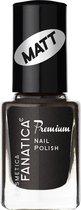 Cosmetica Fanatica - Premium Nagellak - mat zwart - flesje met 12 ml. inhoud - nummer 851