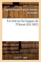 Un Mot Sur Les Langues de l'Orient