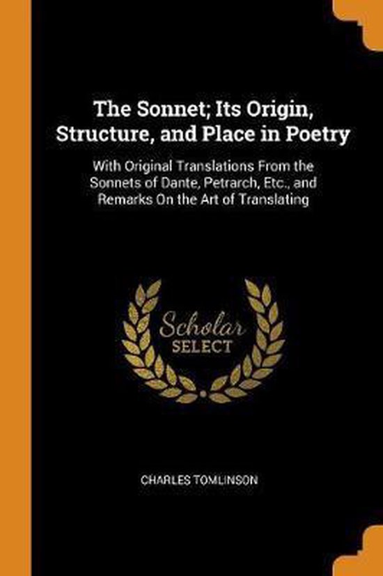 Boek cover The Sonnet; Its Origin, Structure, and Place in Poetry van Charles Tomlinson (Paperback)