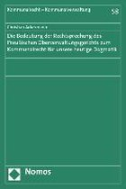 Die Bedeutung Der Rechtsprechung Des Preussischen Oberverwaltungsgerichts Zum Kommunalrecht Fur Unsere Heutige Dogmatik