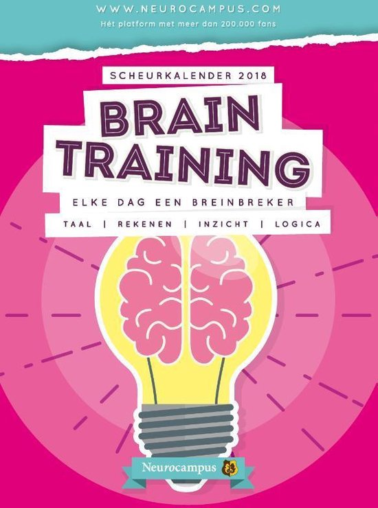 Neurocampus Braintraining -  Scheurkalender 2018