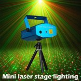 Mini Laser Stage Lighting (Rood+Groen) Projector