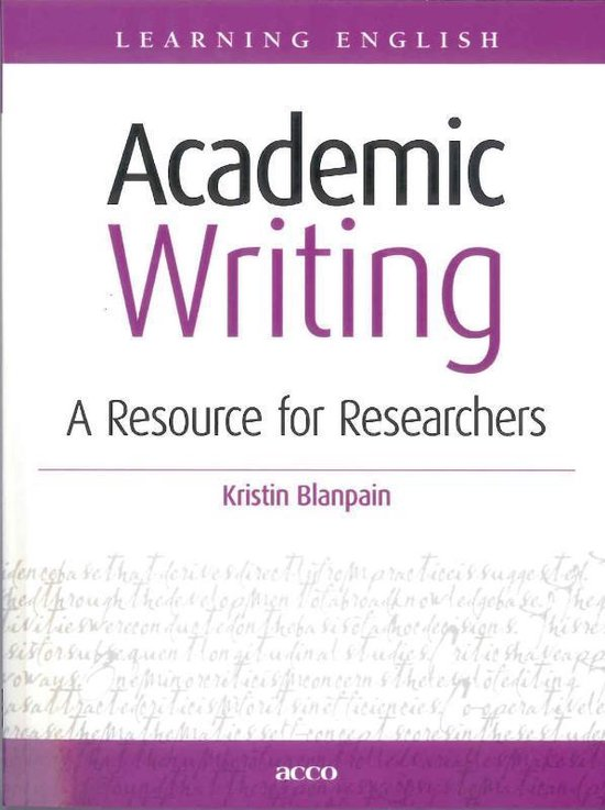 Learning English - Academic writing - Kristin Blanpain |